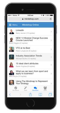 Mindshop Mobile - Discussion Forum