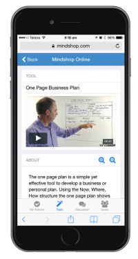 Mindshop Mobile - One Page Plan
