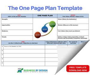 Free one page plan template